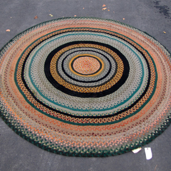 Antique American Braided Rug  |  R6232
