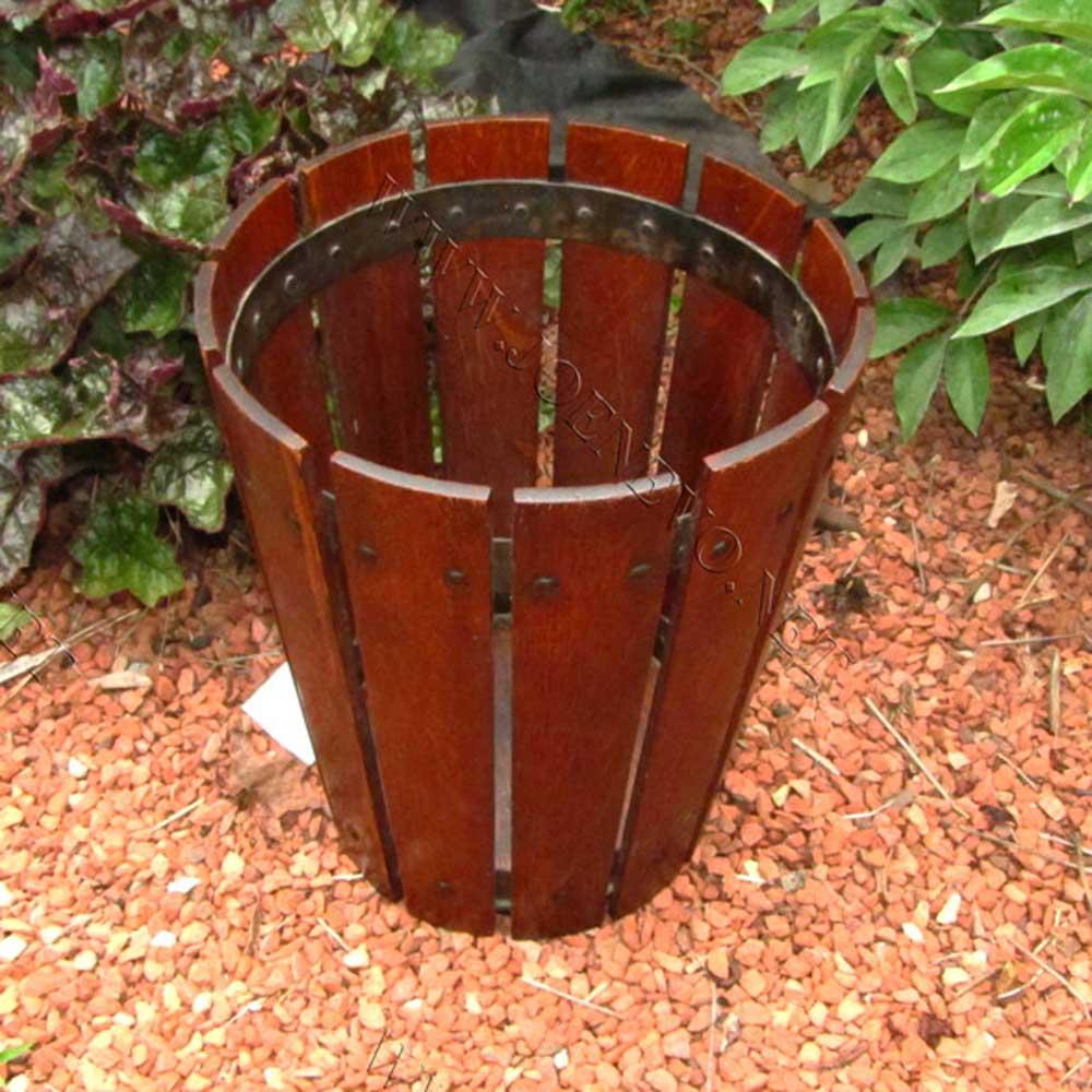 Antique Superb Gustav Stickley Waste Basket Joenevo