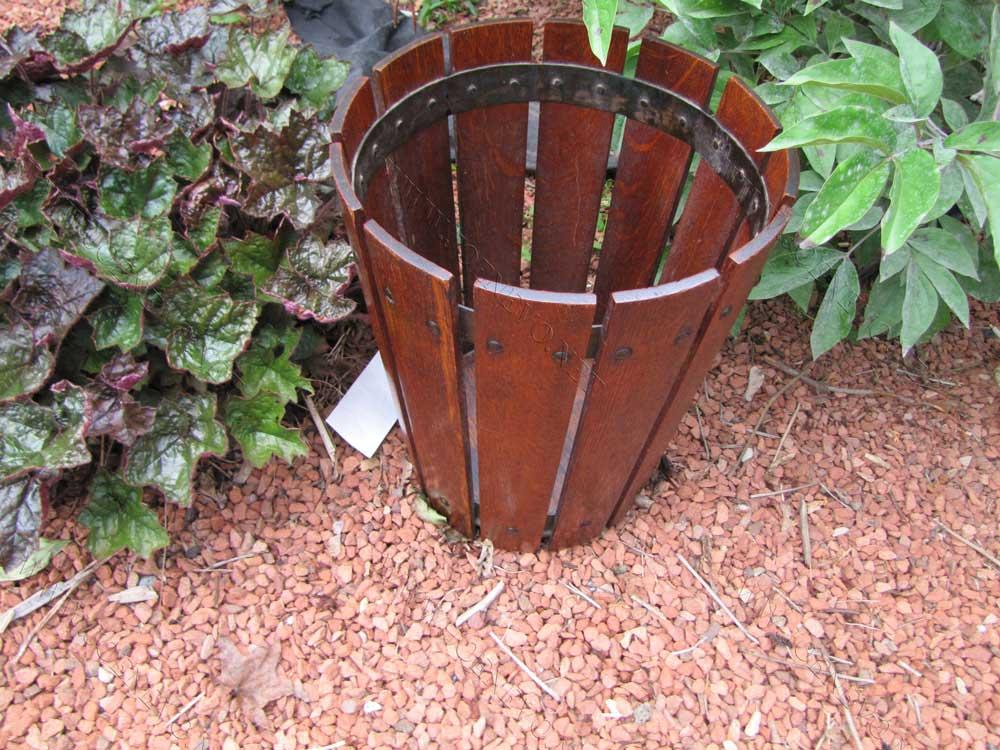 Antique  Superb  Gustav  Stickley  Waste  Basket     W2402