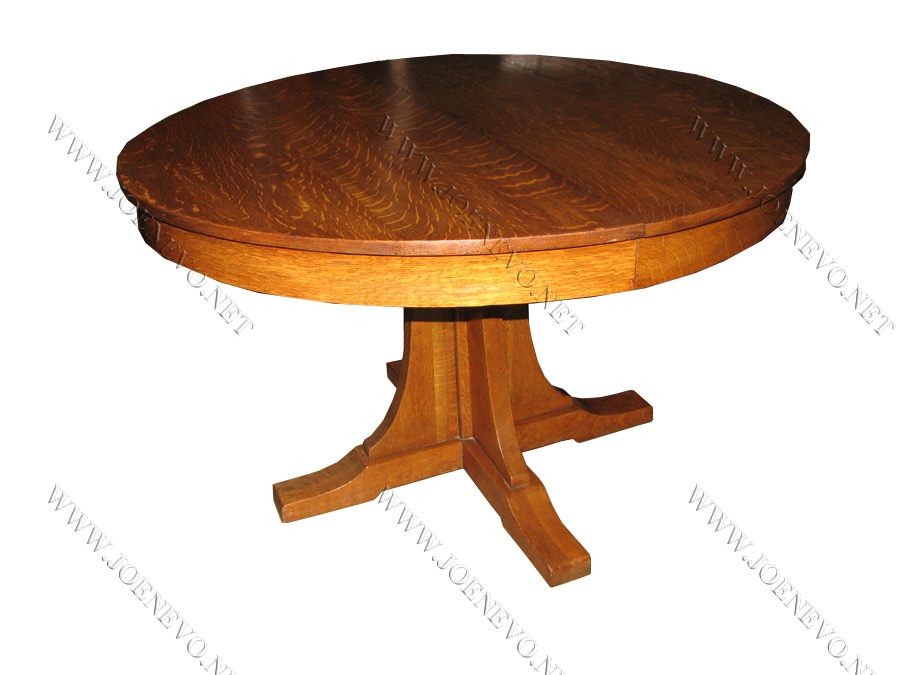 Antique L& jG STICKLEY pedestal dining table  |  w2685