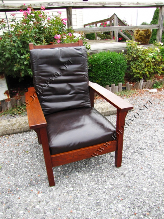Antique Gustav Stickley  Morris Chair  |  w3056