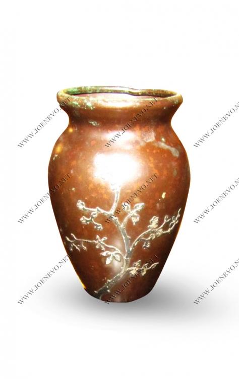 "Antique  ""heintz""  Small Bronze And Silver  Vase  |  W2954"