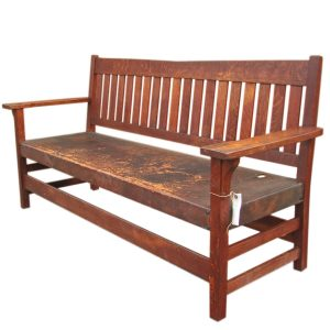 Gustav Stickley  V-Back Settle  |  F379