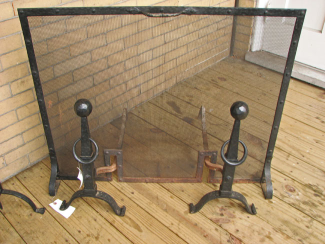 Arts & Crafts  Iron Fireplace Set  |  F7166