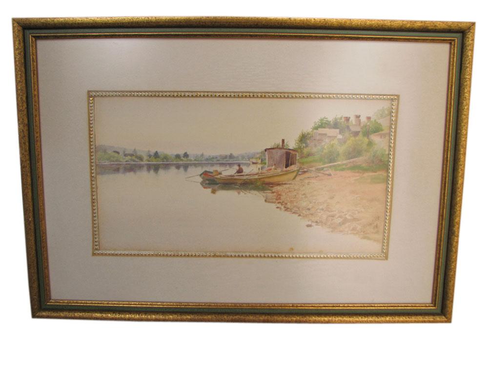 J. Wesley Little  Signed Watercolor  |  F8392