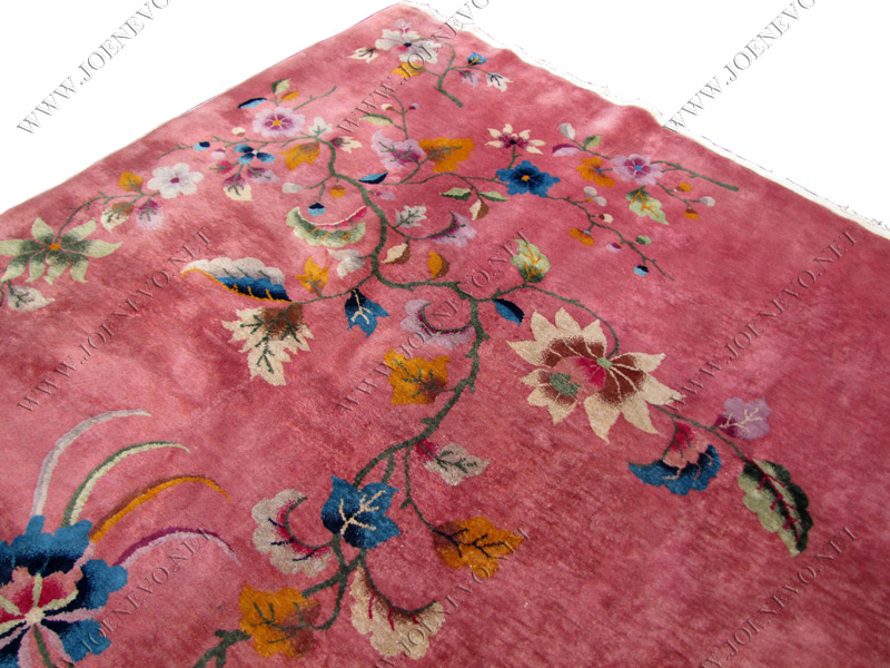 ANTIQUE Chinese hand knotted DECO rug   rr2460