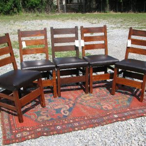 Set Of 5 Early Gustav Stickley Side Chairs F4170