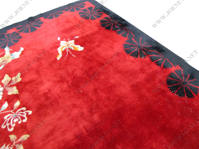 SUPERB  Antique Chinese DECO hand made oriental rug rr1583