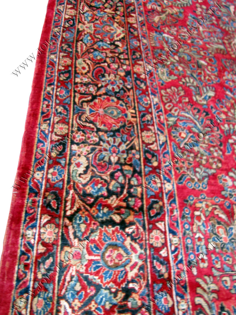 PALACE SIZE Antique PERSIAN Red Sarouk oriental rug  rr2733