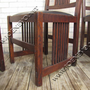 SUPERB and RARE complete set of eight GUSTAV STICKLEY spindled chairs | w1875