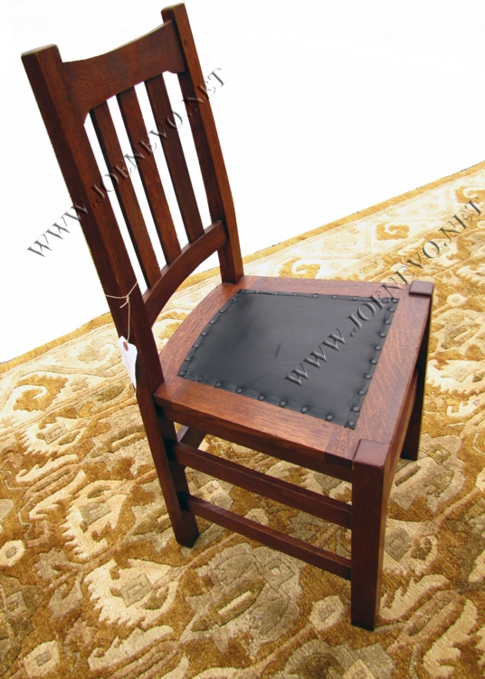 Home » Shop » Antique Furniture » Chairs » Antique Mission Arts & Crafts  Period Stickley Brother – Side Chair W2140 - Antique Mission Arts & Crafts Period Stickley Brother – Side Chair