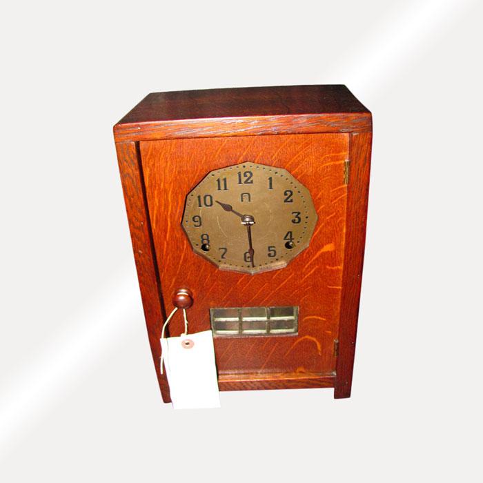 Superb Rare Gustav Stickley Table Clock w2770