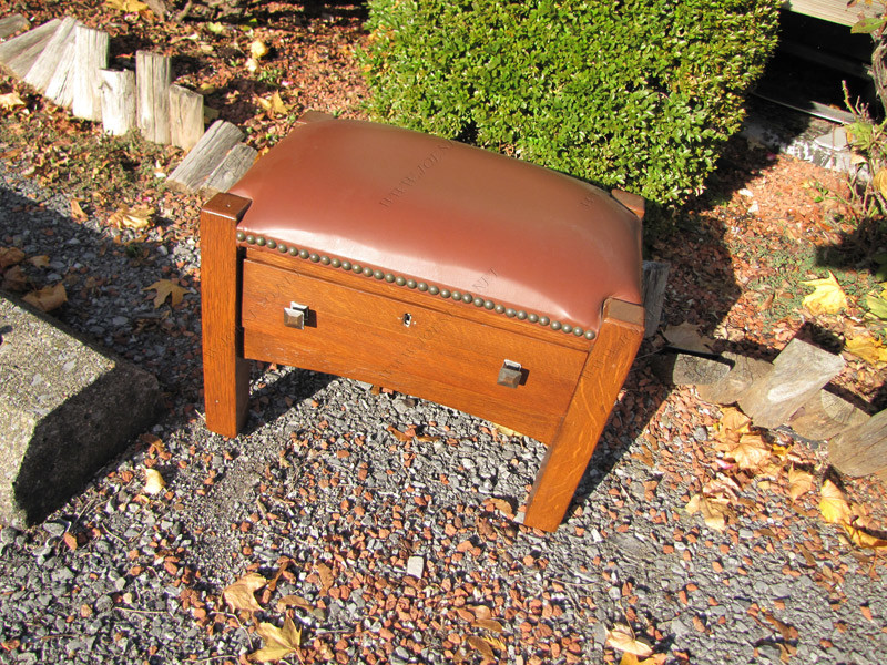 SUPERB  antique C. LIMBERT Footstool with drawer |  w3267