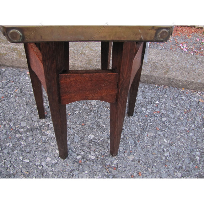 Rare Brass Top Stickley Brothers Drink Stand  | w3322