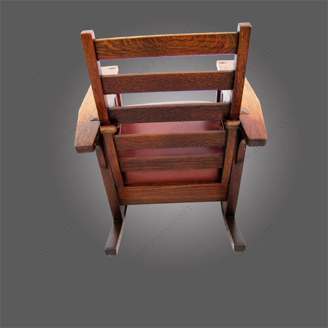 Superb Antique Lifetime Morris Chair Rocker w4018