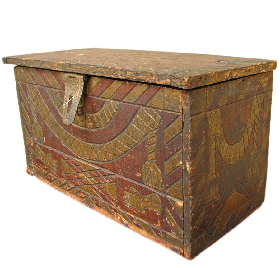 Mason Carved Box F123