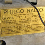 Philco  Tube Radio F169