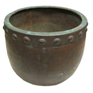 Hammered Copper Jardinier F6849