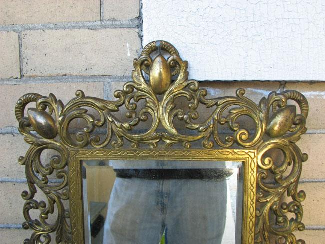B&h  Brass Table Mirror F9921
