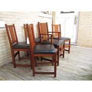 SUPERB Antique L&jG STICKLEY set of six dining chairs | ff1016