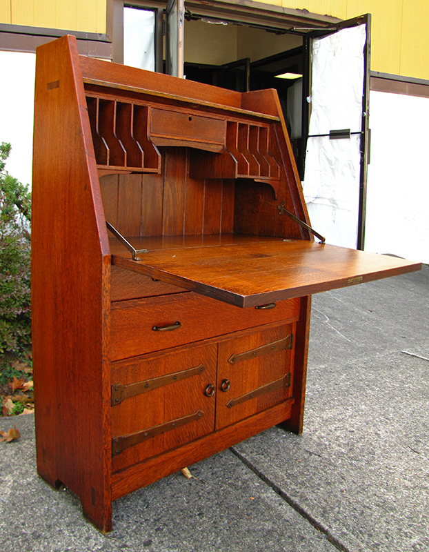 Home » Shop » Antique Furniture » Desks » Gustav Stickley Drop Front Desk  W1407