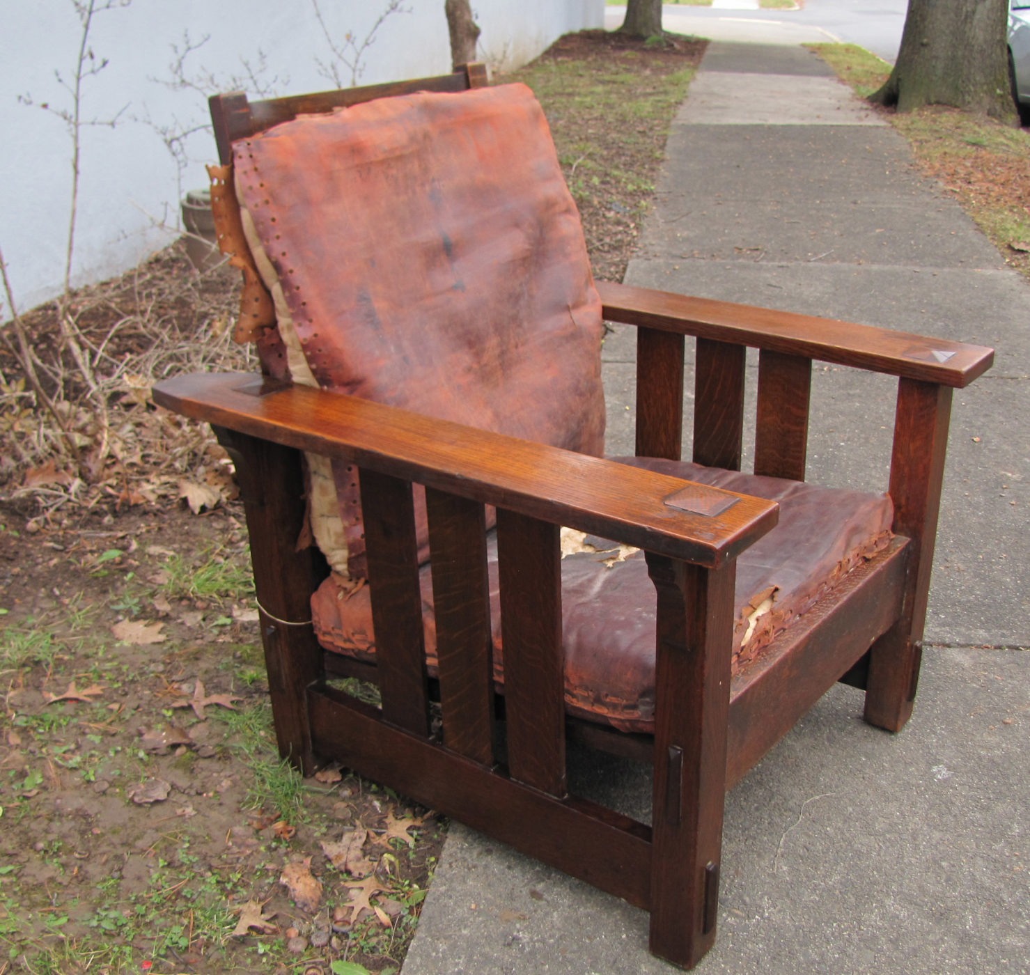 Home » Shop » Antique Furniture » Chairs » Superb Early Stickley Brother  Great Morris Chair W2499u200e