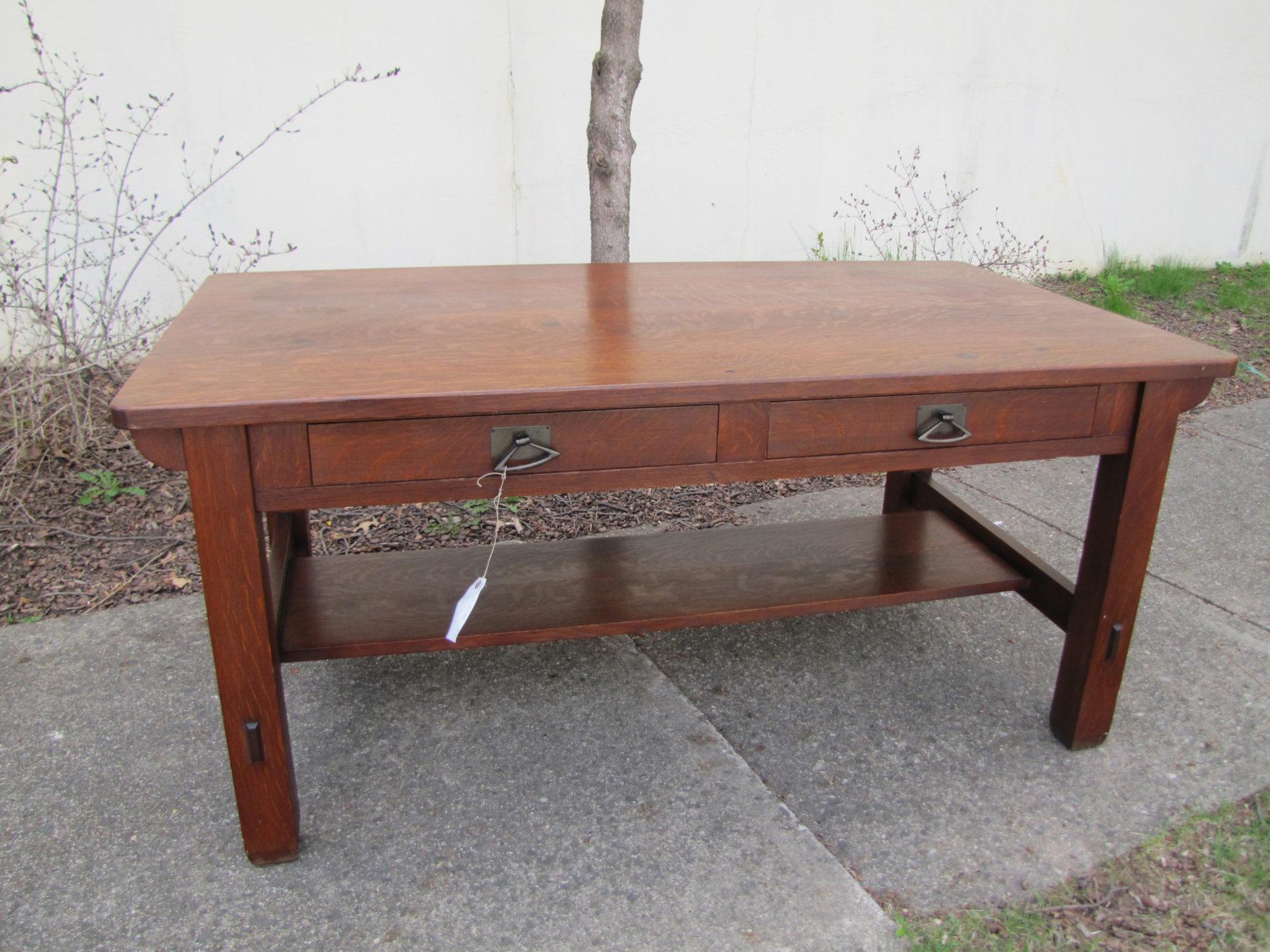 Antique Long Stickley Bros Library Table W3149 Joenevo