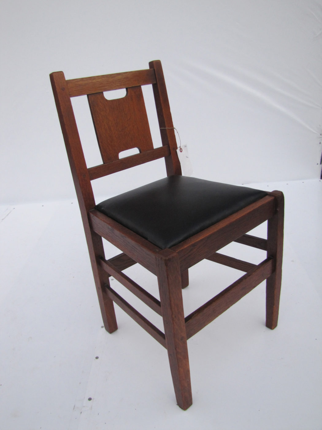 Home » Shop » Antique Furniture » Chairs » Great Looking Small H Back  Gustave Stickley Chair W4092