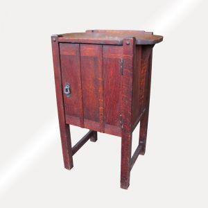 Antique Arts and Crafts Small Cabinet / End Table w4406