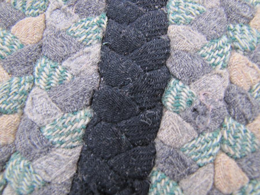 Antique American Braided Rug R6232
