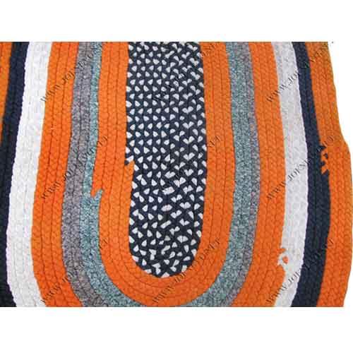 Great  Antique  Folk  Art  American  Braided  Rug  |  Rr2712