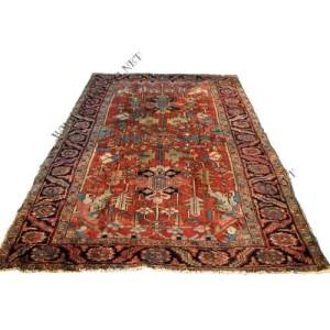 Superb  Antique  Persian  Heriz  Hand  Made  Oriental  Rug     rr514