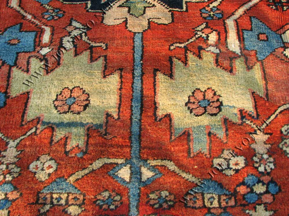 Superb  Antique  Persian  Heriz  Hand  Made  Oriental  Rug  |  rr514
