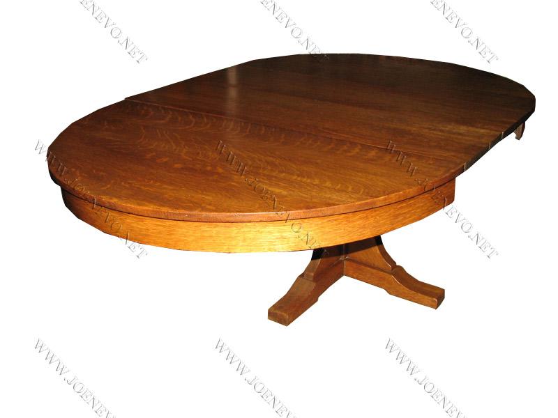 Antique L& jG STICKLEY pedestal dining table  |  w2685