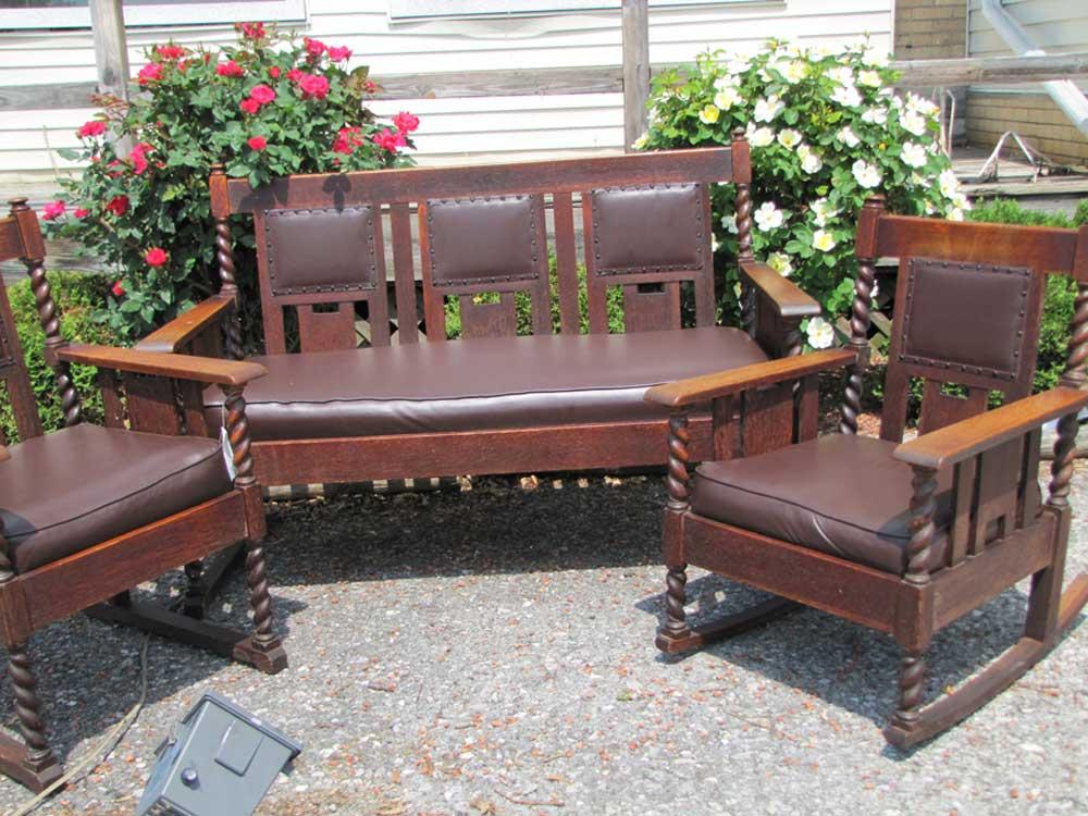 Superb Three Pc. Set Stickley Bros Seating  | W3270
