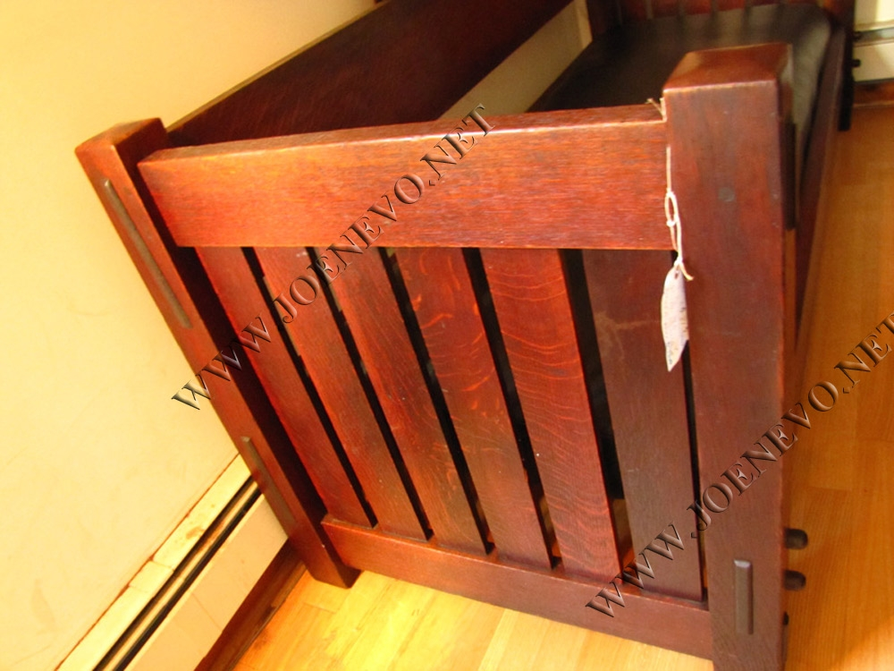 Antique Gustav Stickley  Rare Knocked Down  Setttle  |  W2681
