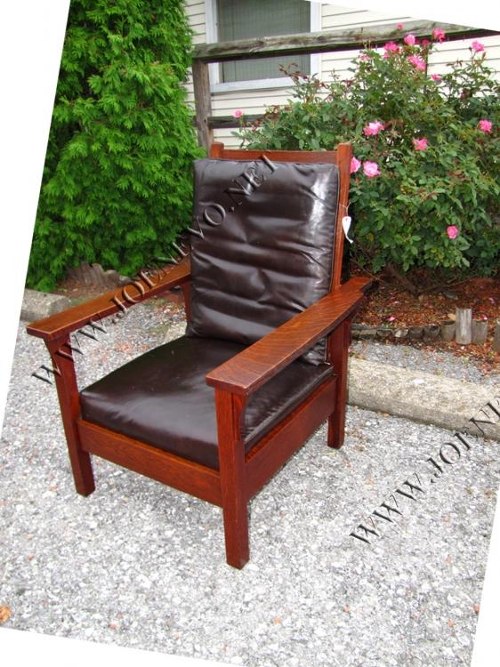 Antique Gustav Stickley Morris Chair W3056 Joenevo