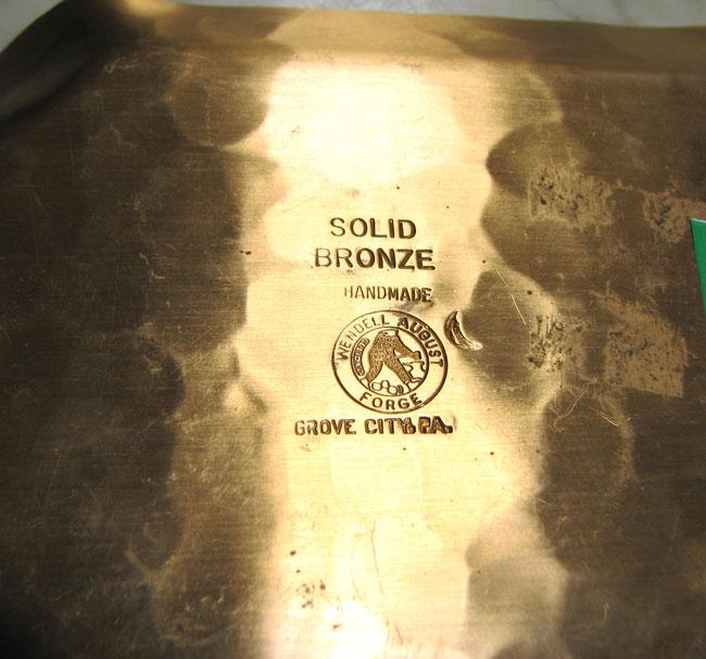 Wendell August  Bronze Tray  |  F6880
