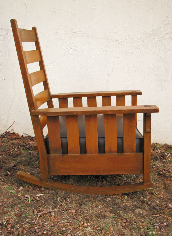 Gustav Stickley  Slatted Rocker  |  F9771