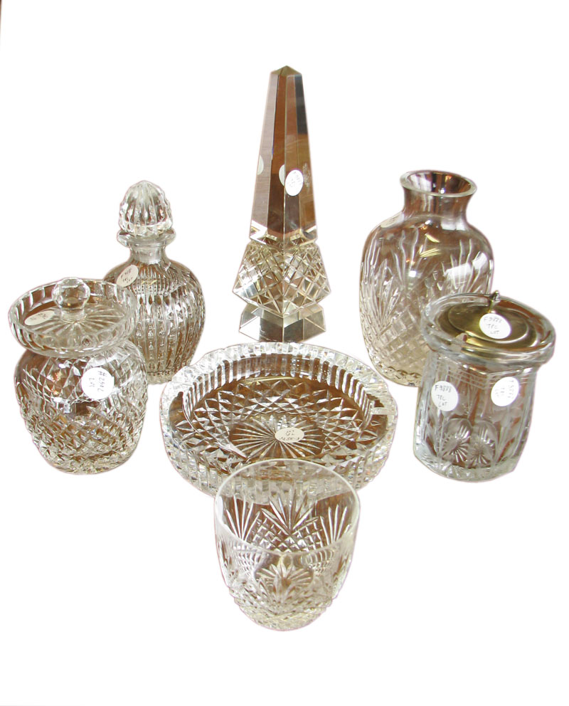 Cut Glass  7 Piece Collection     F9888