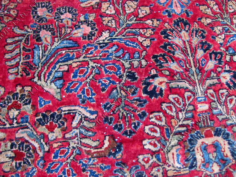 Palace Size Antique Persian Red Sarouk Oriental Rug Rr2783