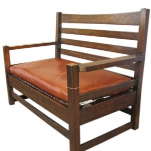 Gustav Stickley Settee F398