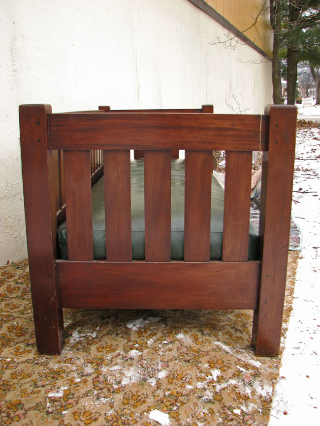 Arts & Crafts Mahogany Settle F78