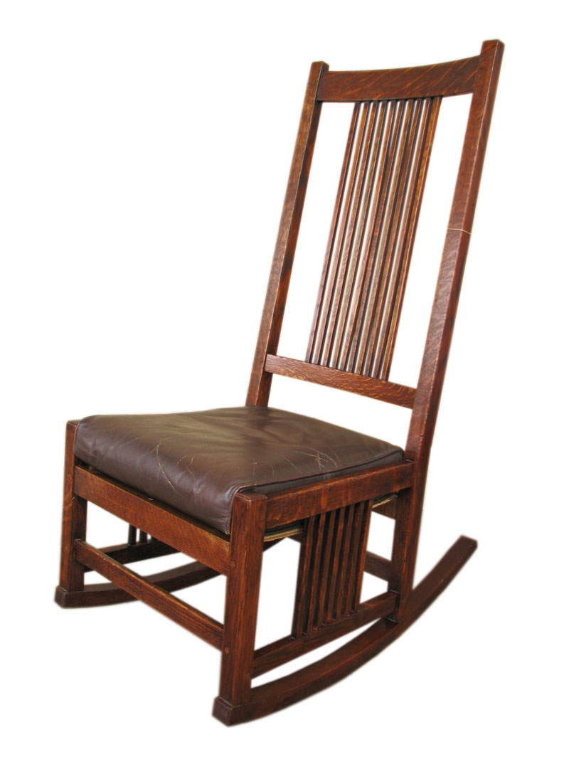 Gustav Stickley Spindled Rocker F9567