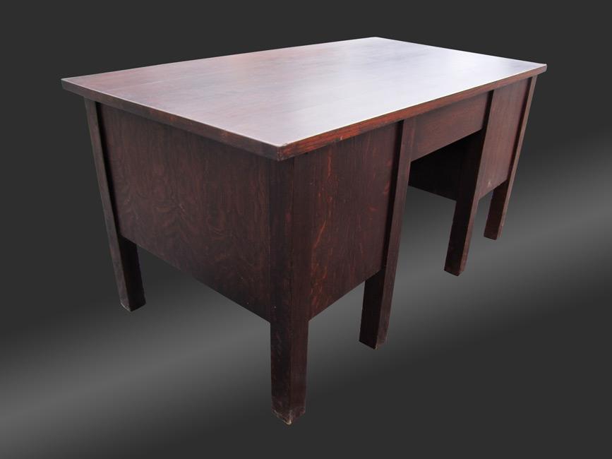 Home Antique Furniture Desks Stickley 8 Leg Desk Model 711 Number W3142