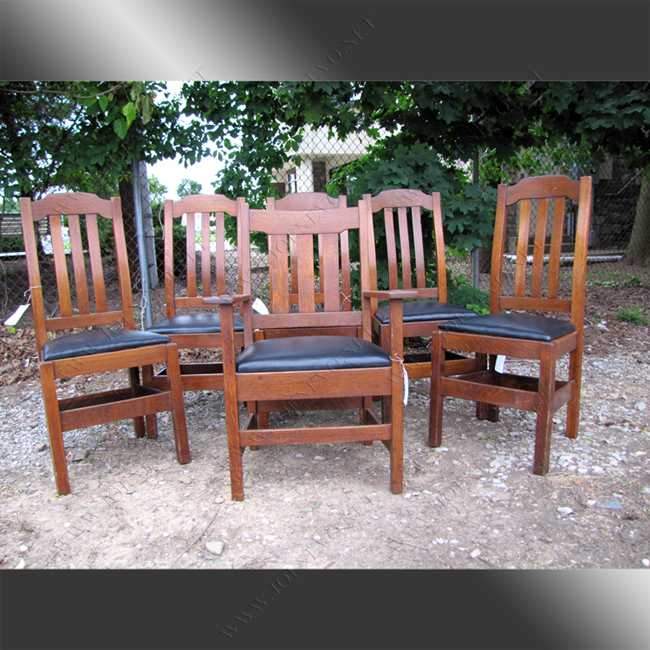 Set Of Six Stickley Brother Dining Chairs w4272