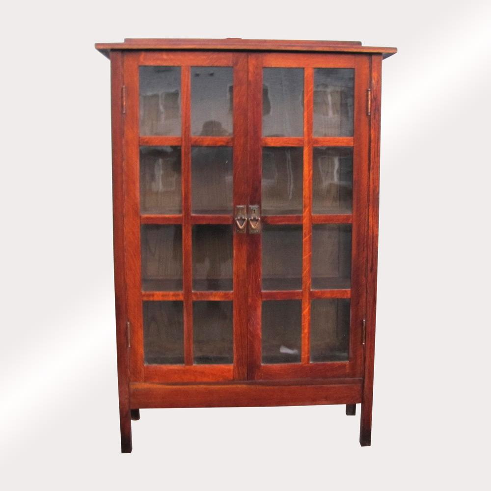Gentil Home » Shop » Antique Furniture » Bookcases » Superb Antique Gustav Stickley  2 Door China Cabinet W5177