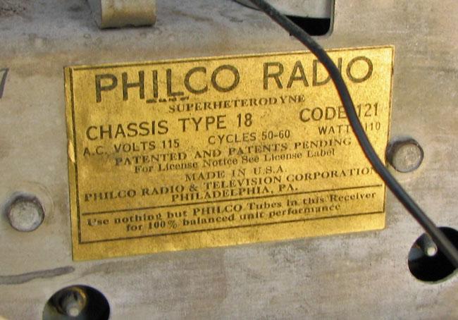 Philco  Tube Radio F169