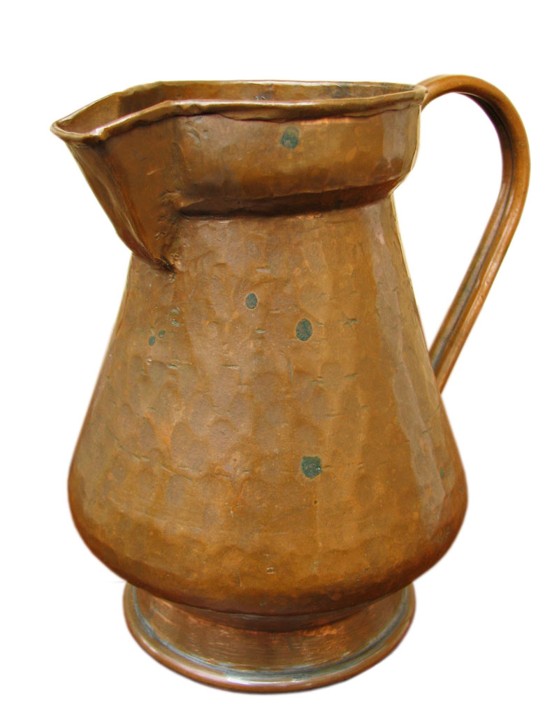 Arts & Crafts  Copper Pitcher F397_4