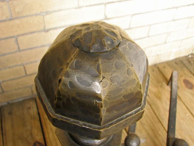Arts & Crafts  Brass Andirons F4159